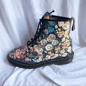 Dr. Martens Shoes - Flower Print Doc Martens